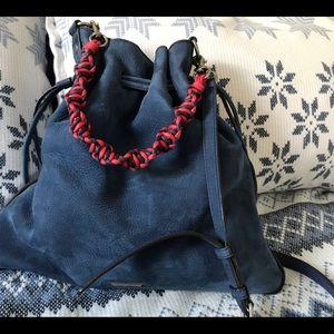 Rebecca Minkoff blue suede shoulder bag